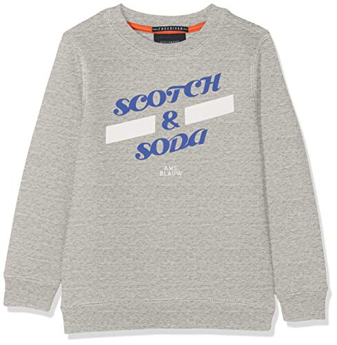 Scotch /& Soda Sudadera AMS Blauw Garment Gris