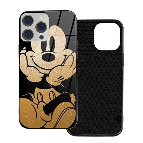 Funda para iPhone 12 Mickey Mouse a prueba de golpes compatible con iPhone 12, compatible con iPhone 12 Pro 6.1/Max 6.7, bonita y duradera funda de vidrio ultrafino