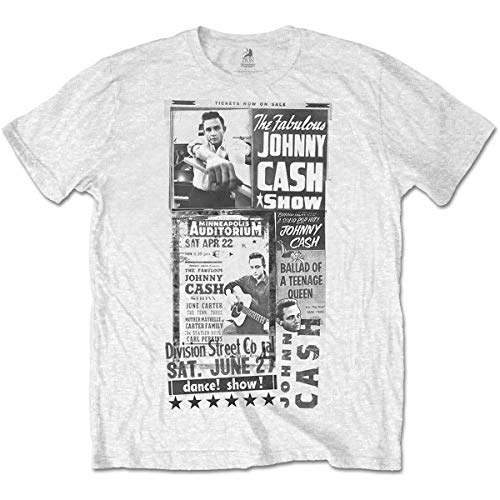 Johnny Cash Show T Shirt - Large