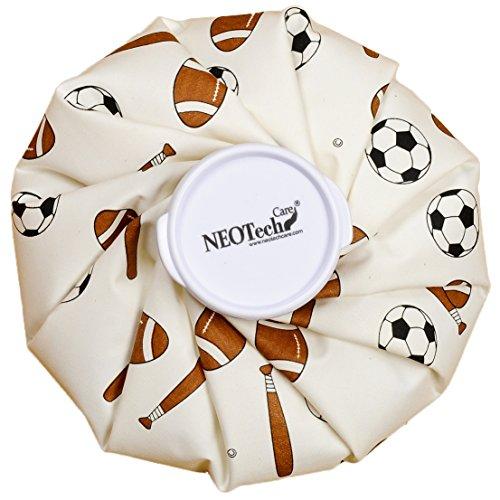 Poche de glace Neotech Care - Vessie/Bouillotte cryothérapie - Premiers soins - Couvercle vissable (Design ballons, 12cm diamètre)