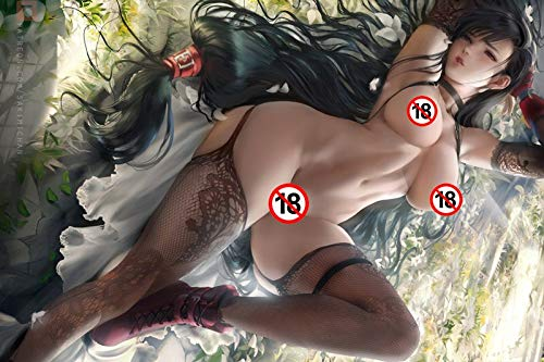 Ami0707 Anime Gemälde Japanische Anime Mädchen mit Strümpfen Sexy Babe Poster und Drucke Leinwand Kunst Für Erwachsene Wohnzimmer Dekor50cmx75cm Kein Rahmen