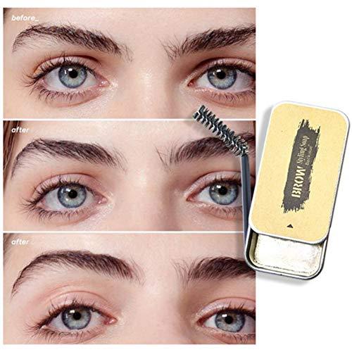 Crème coiffante pour les sourcils, crème et cire pour définir les sourcils, gel coiffant professionnel pour les sourcils pour une mise en forme des sourcils claire et sauvage, gel longue durée et