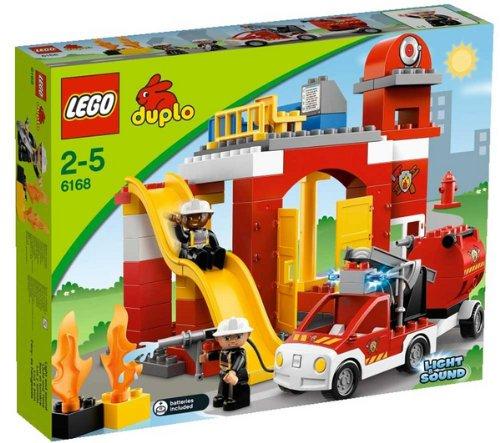 LEGO Duplo - Caserma dei pompieri - 6168 + Duplo - Base di costruzione Duplo verde - 2304