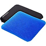 Egg Gel Seat Cushion, Breathable Gel Cushion Chair Pads with Non-Slip Cover for...