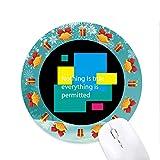 Nichts ist wahr Alles ist erlaubt Mousepad Rund Gummi Maus Pad Weihnachtsgeschenk