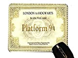 London To Hogwarts Train Ticket Design Print Image Desktop Office Silicone Mouse Pad by Trendy Accessories
