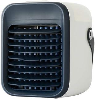 YCAXZSH USB Recargable Aire Acondicionado Portátil,Humidificador Purificar Mini Enfriador Evaporativo para Office Dormitorio Nightstand,Manejar Ventilador De Escritorio Verde