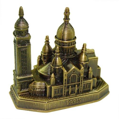 Souvenirs de France-morada-corazón de Paris en miniatura metal, color bronce, metal, 10.6 cm