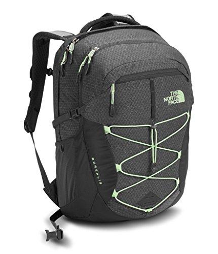 The North Face Women's Borealis Backpack, Asphalt Grey Dark Heather/Subtle Green