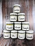 Mini vasetti da 40 ml - 10 pezzi profumi assortiti da scegliere – Piccole candele in cera di soia e oli essenziali – Segnaposto – Idea Regalo – Regalo di Natale