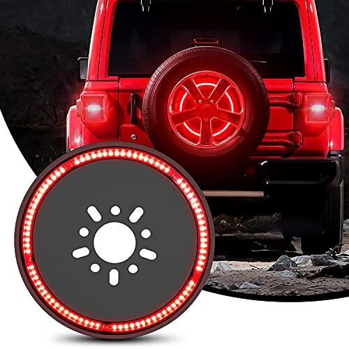 Nilight Spare Tire Brake Light Wheel Light 3rd Third Brake Light for Jeep Wrangler JK JKU JL JLU 2018-2021, 2 Years Warranty