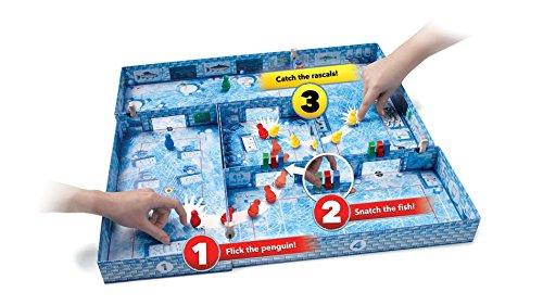 Brain Games ICECOOL - A Fast & Fun Penguin Flicking Board Game (BGP5168) Blue