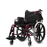 Silla de Ruedas de Aleación de Aluminio, Silla de Ruedas Plegable Ultraligera, Portátil de Viaje para Ancianos, Obesos, Discapacitados, Ancianos, Multifunción, Empuje Manual, Scooter, Twl LTD-Wheelc