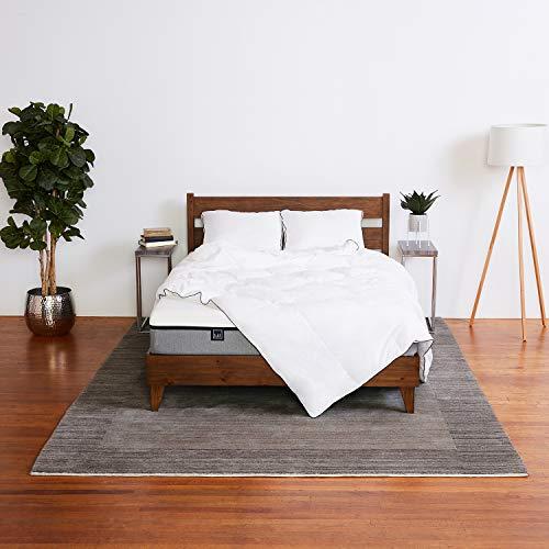 Lull - Memory Foam Mattress Grey Bedding Bundle with a Premium Memory Foam Mattress, Two Pillows, Sheet Set, Comforter & Duvet Cover