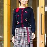 ローズティアラ(Rose Tiara) 【大 追加生産決定】 さくらんぼニットカーディガン【ダークブルー/42】
