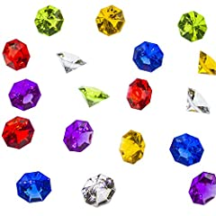 PERFECT SIZE FOR A NICE SIMPLE DECOR - Acrylic gems measurements vary at about 1.2 in x 0.9 in (32mm x 24mm). COLORFUL VARIETY - Available in a wide selection of different colors. Comes in a pack of 36 acrylic gems. GREAT FOR HOME DECOR - Perfect for...