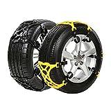 Ai CAR FUN Car Snow Chains, Emergency Anti Slip Snow Tire Chains for Most Cars/SUV/Trucks,Winter Universal...