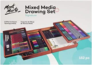 152pc Drawing Set Mont Marte Signature Mixed Media Drawing Set Arts Artist Xmas Gift