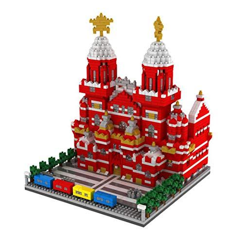 HZYM Arquitectura de bloques de construcción rojos, 2384 piezas Nano Mini Blocks Moscú Maqueta de Arquitectura Modelo Arquitectura Modelo Arquitectura Modelo Arquitectura No Compatible con Lego