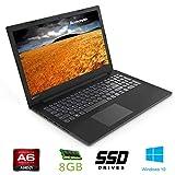 notebook lenovo cpu a6 9225, boost 2,6ghz , 15,6 hd, ddr4 8gb, ssd da 256gb , radeon r3, wi-fi, lan, bluetooth, win10 pro, antivirus, pronto all'uso garanzia italia
