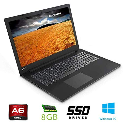 Notebook Lenovo cpu A6 9225, boost 2,6GHz , 15,6' HD, DDR4 8GB, SSD da 256Gb , Radeon R3, Wi-fi, Lan, Bluetooth, Win10 Pro, Antivirus, Pronto All'uso Garanzia Italia