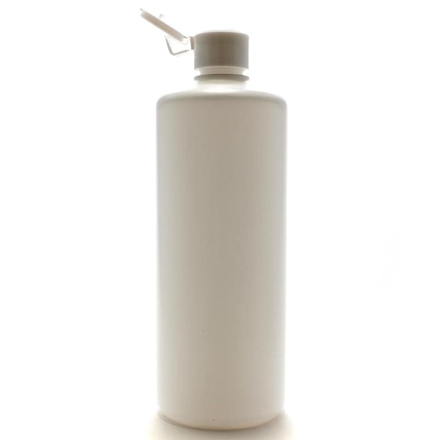 花火忘れっぽい区別プラスチック容器 500ml PE ストレートボトル [ ボトル:ホワイト / ヒンジキャップ:ホワイト ]