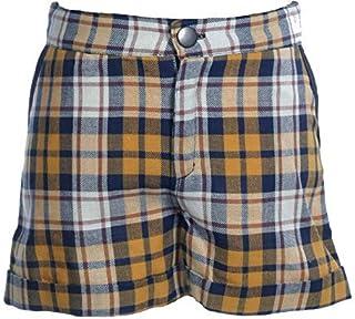 MPL Pantalon Niña Corto a Cuadros, Short Niña con Tejido de Algodón, Calido y Caliente para el Frio Invierno. Ropa de Niño...