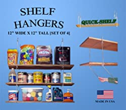 "product image for Shelf Hangers - 12"" Wide X 12"" Tall [4 Pack]"