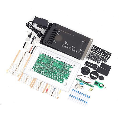 Digital Electronic Clock Kit, ECL-1227 Chip Alarm Clock Kit Soldering Practice Learning Kits DIY LED Electronic Clock Kits Electronic Soldering Clock Kits(Blue)