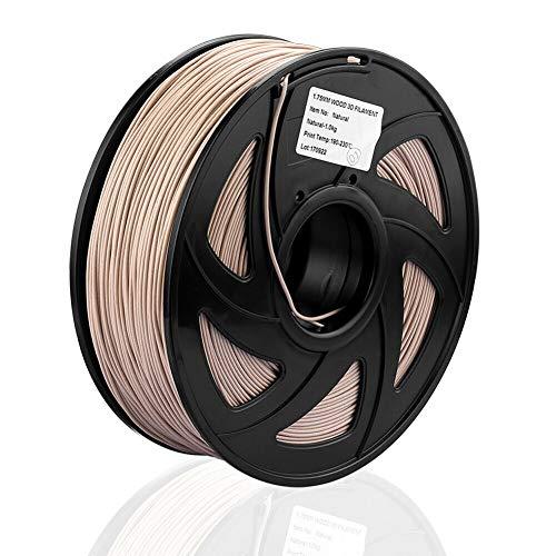 S SIENOC 3D Printer PETG Filament 1.75mm 3D Printer Filament Wood Color 1KG (PETG Wood Color)