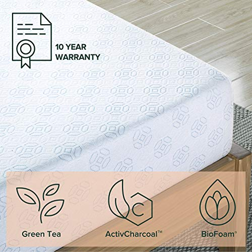 Zinus 8 Inch Gel-Infused Green Tea Memory Foam Mattress / Cooling Gel Foam / Pressure Relieving / CertiPUR-US Certified / Bed-in-a-Box, Twin
