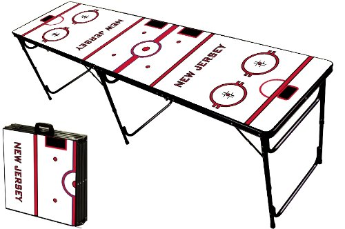 Save %8 Now! 8-Foot Professional Beer Pong Table - New Jersey Hockey Rink Graphic