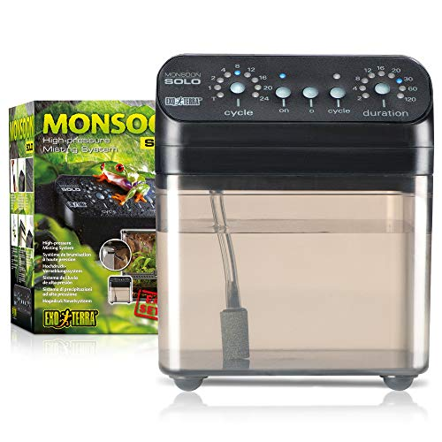 Exo Terra Monsoon Solo System, Automatic Mister for Reptile Terrariums and Greenhouses, PT2494