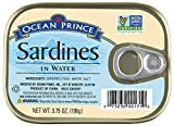 Ocean Prince Sardines in Water, 3.75 Ounce Cans (Pack of 12)