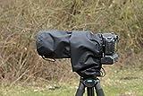 Impermeable Cámara/lente de lluvia para Sigma DG 120–400mm 4.5–5.6Apo HSM, & Funda de transporte, Negro, Nylon, UK de fabricación.