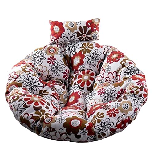 LWY Cradle Cushion For Hanging Chair Balcony Swing Seat Cushion Removable With Pillow 110 Cm In Diameter(Size:110 cm,Color:F)