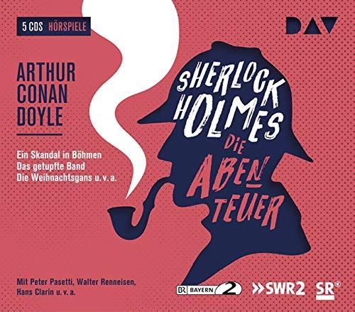 Sherlock Holmes 2 – Die Abenteuer: Hörspiele mit Peter Pasetti, Walter Renneisen, Hans Clarin u.v.a. (5 CDs) (Sherlock Holmes - die Hörspielklassiker)