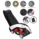 Tvird Lawn Mower Cover-Premium Oxford Heavy Duty Push Mower Cover,Anti UV&Mildew&Dust&Water Universal Fit Size with Drawstring,Storage Bag and Buckle(210D,Black)