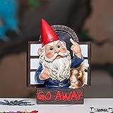 FENGLISUSU Vete a Rude GNOME y su Ardilla, Decoración de Huggers Elf Tree Huggers Outdoor, Resin Garden Greeter, No Bienvenido Estatua Garden Grumpy GNOME por la Ventana para jardín/Patio/árboles