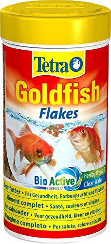 Tetra Goldfish Flakes, Flockenfutter für alle Goldfische und andere Kaltwasserfische, 250 ml Dose