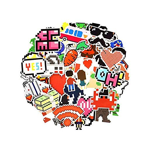 votgl Classic Pixel Art Sticker Speelgoed Graffiti Anime Nostalgia Spel Klassieke Reel Karikatuur Stickers om DIY Laptop Auto Skateboard 50 PC