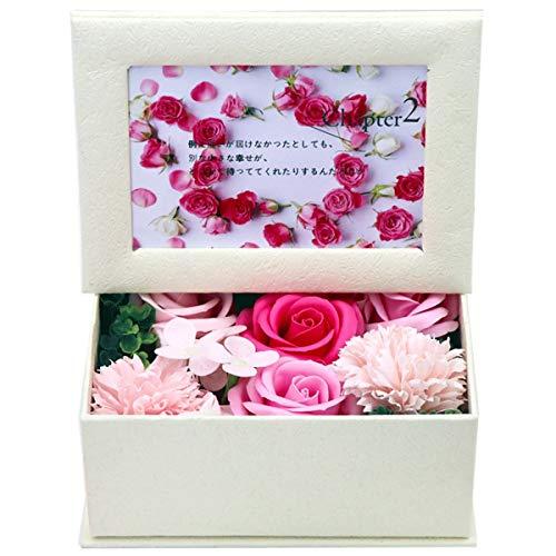 Wallfire Savon de Bain Floral pétales Rose Flower Soap Gift Set avec Cadre Photo pour Femmes Maman Anniversaire Anniversaire Saint Valentin (Color : Pink)