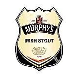 Cozy-T Murphy's Irish Stout Advertising Bar Old Pub Drink Pump Badge Brewery Cask Keg Draught Pint Alcohol Shield Shape Metallo/Acciaio Segno di Parete