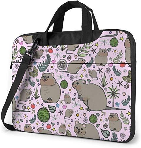 Quokka Party Stoßfeste Laptop Schulter Menger Tasche Laptop Hülle Laptop Aktentasche Busin Handtasche