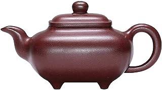 Sjydq Purple Clay Teapot Full Handmade Authentic Original Ore Old Purple Clay Teapot Household Tea Set Square Furnace