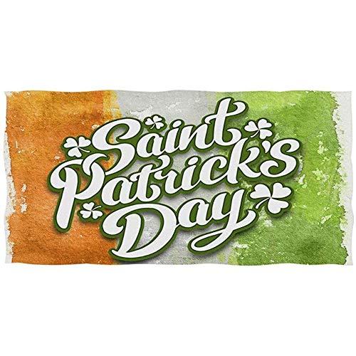 St. Patrick'S Daywatercolor Ierse Vlag Oranje Wit Groen Zeer absorberend Zacht Grote Gast Multifunctionele Mount Badhanddoeken Hand