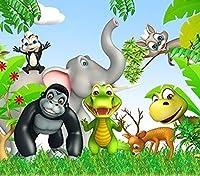 大人の若者の子供たちのジグソーパズル1000ピースの森の動物大きなジグソーパズル家族の挑戦的なゲームエンターテイメントおもちゃギフト家の装飾