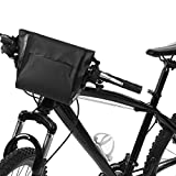 Dilwe Fahrrad Fronttasche, Qualität PVC Reflektierende Logo Fahrrad Vorderrohr Lenkertasche für Klapprad Mountainbike Rennrad - 3