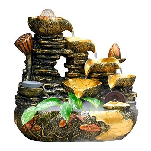 xiaokeai Fuentes Decorativas Fuente de Escritorio Creativa con humidificador atomizado. Cascada Fuente