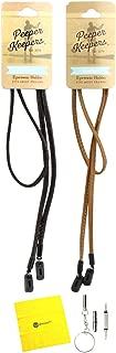 Peeper Keepers Eyeglass Retainer| Leather Sunglass Holder | w/Microfiber Cloth & Screwdriver